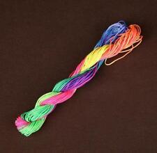 24M Colorful Macrame Beading Wax Nylon Braided Cord Wire Thread String DIY Craft