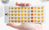 660 PCS 12 Page Emoji Faces Sticker Scrapbook card DIY Diary Gift Bag Kids party