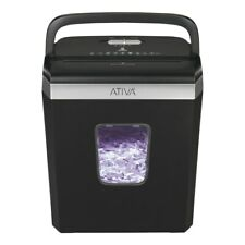 Ativa 6 Sheet Cross-Cut Shredder, Black, A06Cc19