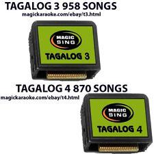 MAGIC SING Karaoke MIC TAGALOG  3 and 4 Song Chips Tagalog OPM & English Songs
