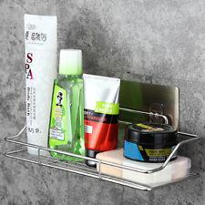 Stainless Steel Bathroom Wall Shelf Suction Holder Corner Storage Rack Organizer