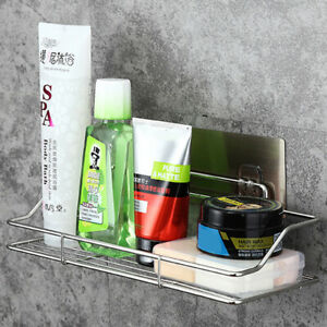 Stainless Steel Bathroom Wall Shelf Suction Holder Corner Storage Rack
