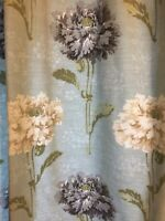 Laura Ashley Curtains Ruskin Duck Egg Ivory Cream Midnight Moss Arts & Crafts