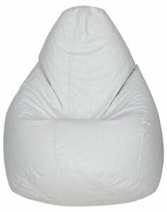 White Handmade Classic Bean Bag Cover (Without Beans) XXL Size with Free masks