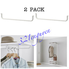 Ikea Algot Clothes Rail for Bracket, White 15 3/4� 703.258.64 New (2 Pack)