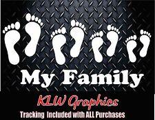 My Family (feet) * Vinyl Decal Sticker car window mom kids Diesel Truck Beach