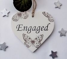 Engaged /Vacant  Double Sided New Home Wooden Gift Plaque  10cm x 10cm