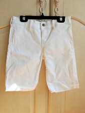 Abercrombie kids girls white denim bike shorts size 14