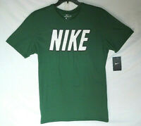New The Nike Tee Athletic Cut Men's Short Sleeve T-Shirt Green Sz Lg 100% Cotton
