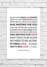 Real love song lyrics