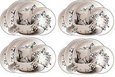 16PC dîner set assiettes bols tasses vaisselle vaisselle service pour 4 salle à manger sets