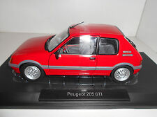 PEUGEOT 205 GTi 1.6 1988 VALLELUNGA RED  NOREV 184853 1:18