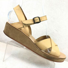 Kork Ease Myrna Tan Leather Slingback Platform Sandals Women's 10 - 10.5 / 41