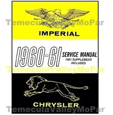 Factory Shop - Service Manual for 1960-1961 Chrysler & Imperial