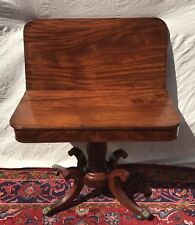 19Th C Classical Federal Antique Game / Card Table Console ~ Isaac Vose Boston