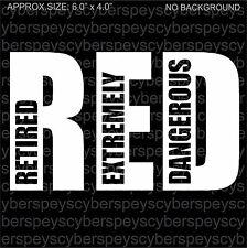 RED Art Design Car Vinyl Sticker Decals