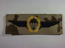 Bundeswehr Fallschirmspringerabzeichen BW gold /schwarz auf Wüstentarn mgest.