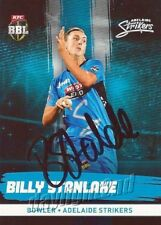 ✺Signed✺ 2016 2017 ADELAIDE STRIKERS Cricket Card BILLY STANLAKE Big Bash League