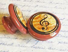 "Treble Clef Music Knob Drawer Pulls, 1.5"" Cabinet Knobs, Music Note Dresser Knob"