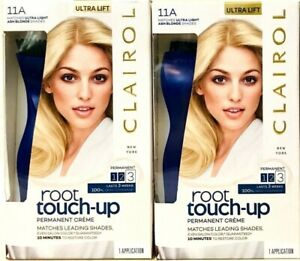 2 Boxes Clairol Root Touch Up 11A Matches Ultra Light Ash Blonde Permanent Creme