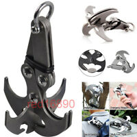 Steel Gravity Grappling Hook Claw Sports Survival Carabiner Climbing Tool