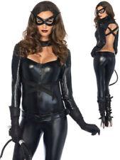 Sexy Halloween Costume Leather Jumpsuit Wild Batwomen Catsuit Catwomen Cosplay