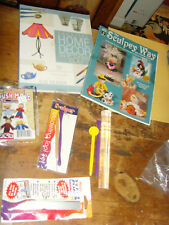 Lot of Clay craft items  push mold tools books Sculpy Way roller Creative Decor