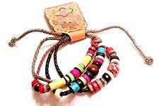 Rope Wrist Bead Charm Friendship Festival Bracelet - Rainbow - Fashion Jewellery