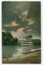 Steamer In The Outlet at Clifton Chautauqua Lake New York 1910c postcard