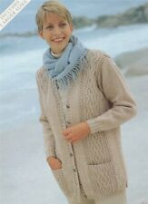 Ladies Knitting Pattern copy Long Line Cardigan with Pockets Incl Larger Sizes