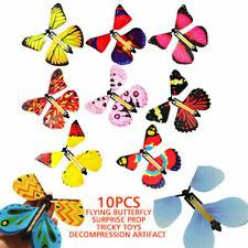 10Pcs Butterfly Magischer fliegender Schmetterling Kinder Spielzeug Geschenk DE