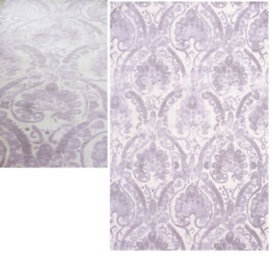 Pottery Barn EMMA PATTERNED DORM RUG Girls Purple Lavender 3x5 Jacquard Woven