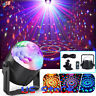 LED Stage Light Remote Control Party Lamp Disco Ball Mini RGB 3W Home Car USB US