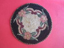 vintage miniature dollhouse victorian floral silk hook loop doily rug  1:12