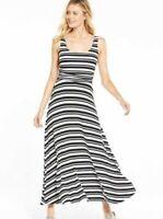 Maxi Dress Size 10 Petite Monchrome Stripe Stretch BNWT V by Very