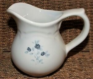 """Creamer Pitcher, Pfaltzgraff Poetry Blue Rose. 4 1/2"""" Pitcher for cream. Mint!!!"""