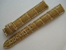 GENUINE CARTIER WATCH STRAP BAND 13x12mm GOLD BEIGE ALLIGATOR FOR TANG BUCKLE