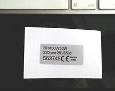 "Pedelec ebike 2x motor sticker 250w legal for 26"" wheel Bafang, BMC, MAC, Bosch"