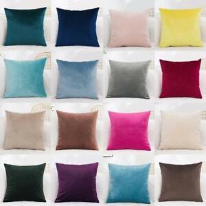 Velvet Cushion Cover Pillow Case Color Pillowcase  Sofa Pillows Home Decor