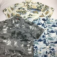 Mens Hawaiian Shirts Size XL Lot of 3 Palm Tree Motif Assorted Colors
