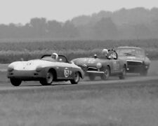 Vintage 8X10 Racing Photo SCCA 1965 Courtland, AL Porsche, Alfa & Volvo