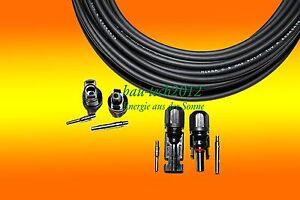 1 X 30m Câble Solaire 4mm2 + 2 Paire Mc 4 Fiche Pour PV Photovoltaïque