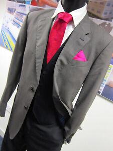 Paul Smith Sharkskin Grey 2 Button front jacket UK 40 EU 50