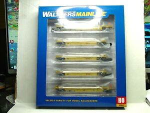 WALTHERS MAINLINE HO SCALE THRALL 5-UNIT 40' WELL CAR TTX DTTX 910-55635