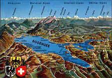 Relief-Postkarte Bodensee Region Grenzgebiet Deutschland Schweiz AK ungelaufen