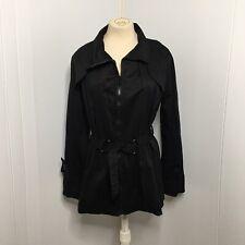 Japanese Weekend Black Zip Front Maternity Jacket, Size S, Adjustable