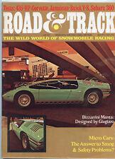 March 1969 Road & Track Magazine Bizzarrini Manta Cover