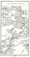 Antique map, Roads from Tanderagee to Stewartstown & Dundalk to Portrush (1)