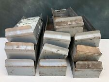 Vintage Industrial Grey Metal Storage Parts Bins Drawers