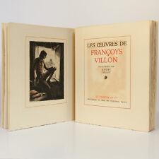 Œuvres de Françoys VILLON. Illustrations de François COLLOT. Le Vasseur 1942.